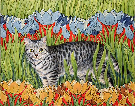 Mintaka Among Art Nouveau Tulips