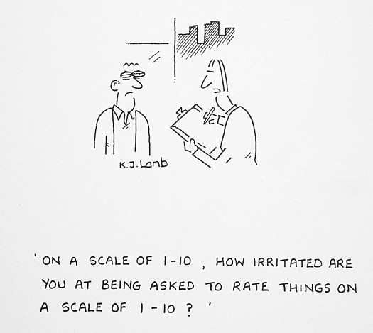 On a Scale of 1-10, How Irritated Are You At Being Asked to Rate Things On a Scale of 1-10?