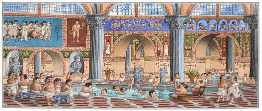 They Left Their Lazy Master At the Public Baths Each Day