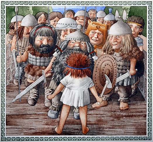 The Ostrogoths All Laughed to See Spontanius Alone;