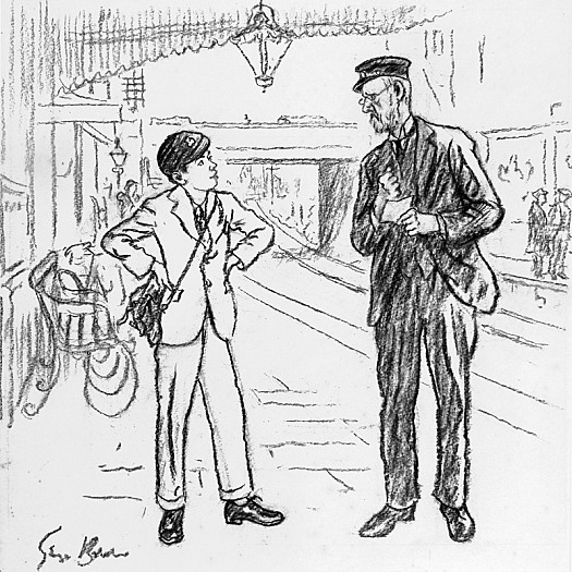 School Boy: 'What Time Is It?'Station Master: '4.44 I've Told You That Five Times Already'Schollboy: 'Yes but I Like to See Your Wiskers Wobble'