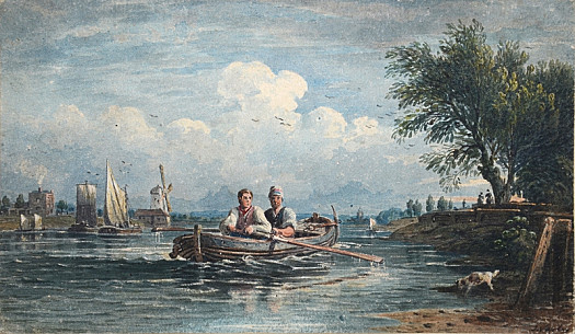 View on the Thames near Battersea