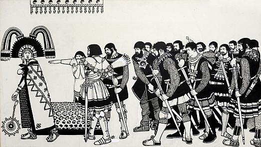 Arrest of the Emperor Montezuma