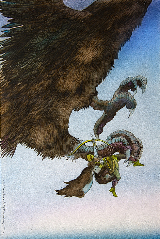The Bird Swooped Low over Where Ragnar Forkbeard Was Standing, and Snatched Him Up In Its Monstrous Claw