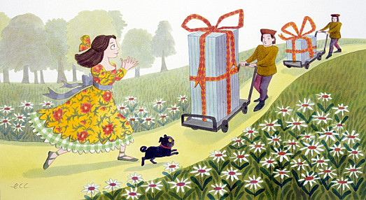 He Packaged His Two Gifts In Big Silver Crates and Sent Them to Her by Special Messenger