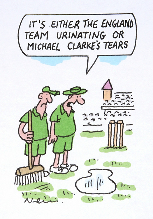 It's either the England Team Urinating or Michael Clarke's Tears