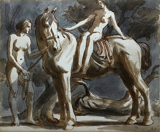 Naked Women and Horse