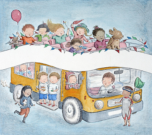 The Bus Is For Us! (Front Cover Illustration)