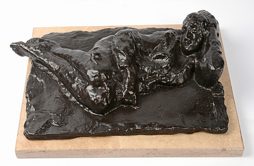Reclining Girl Plaquette