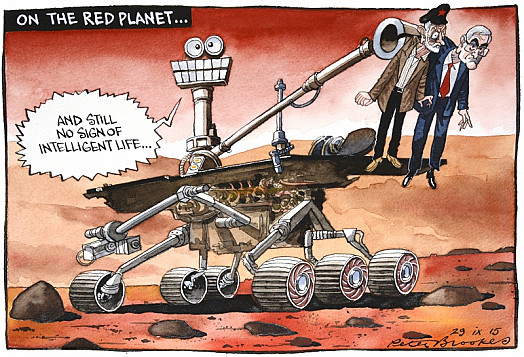 On the Red Planet...