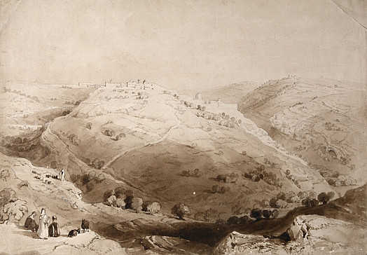 Mount Zion from the Hill of Evil Counsel