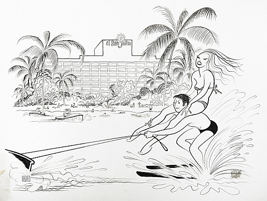 Water-Skiing At the El San Juan Hotel