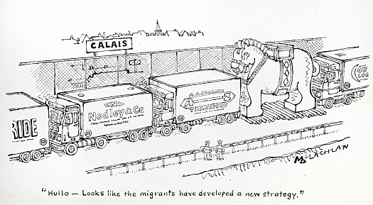 Hullo – Looks Like the Migrants Have Developed a New Strategy