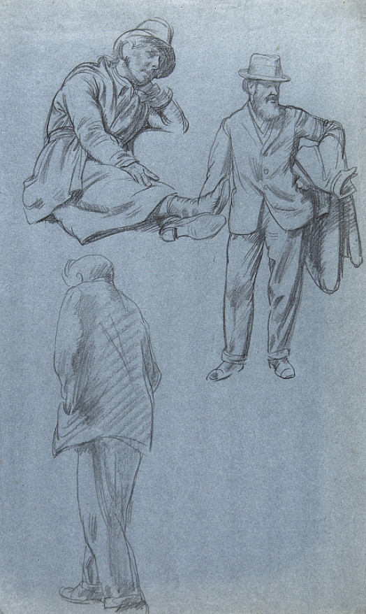 Three Male Figures