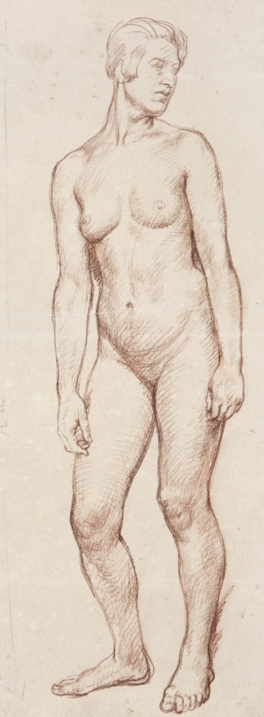 Standing Female Nude, Turning Right
