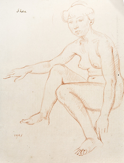 Seated Female Nude: Resting but Alert