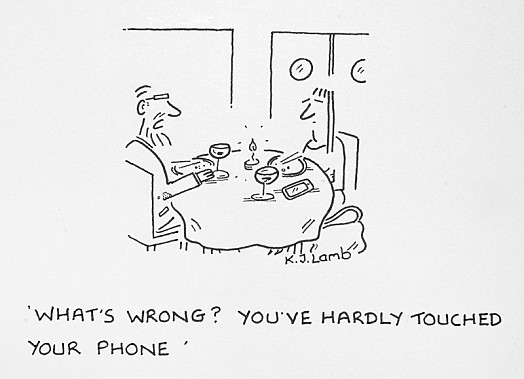 What's wrong? You've hardly touched your phone