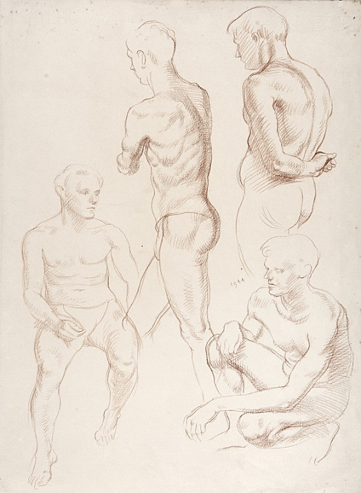 Four Studies of Male Nudes