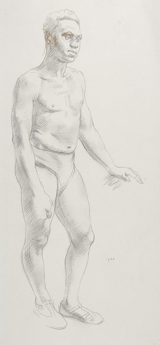 Standing Black Male Nude