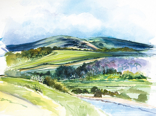 A Glimpse of the River, Cuckmere Valley