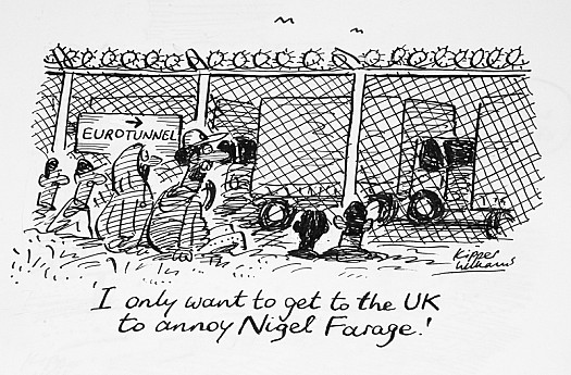 I only Want to Get to the Uk to Annoy Nigel Farage