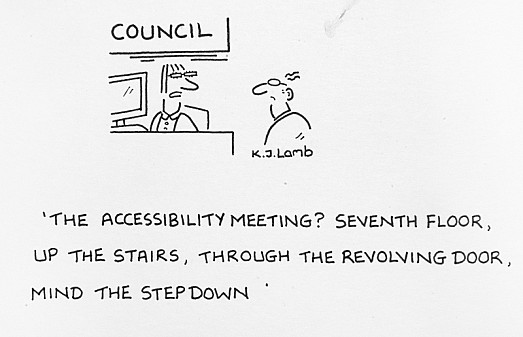 The Accessibility Meeting? Seventh Floor, Up the Stairs, Through