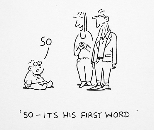 So - It's His First Word